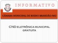 CND MUNICIPAL ELETRÔNICA E GRATUITA: MAIS UMA CONQUISTA DE BUENO BRANDÃO